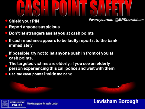 Cash point safety