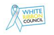 white ribbon council logo