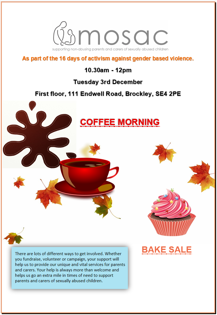 Mosaic Coffee Morning flyer