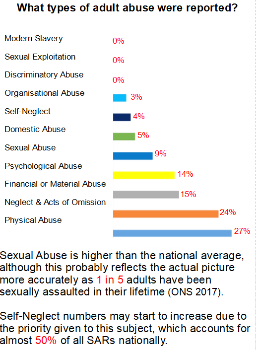 Image of what types of adult abuse were reported
