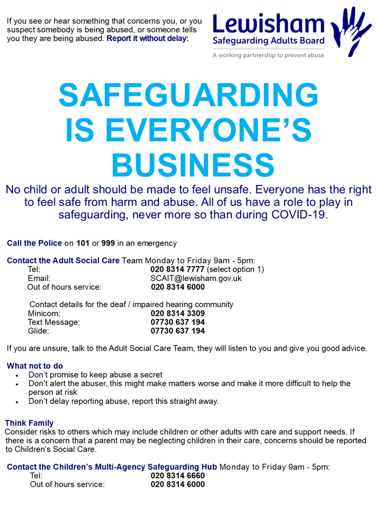 Safeguarding is everyones business all of have a role to play
