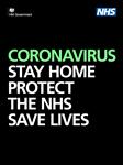 Coronavirus Poster Image - Coronavirus Stay home, Protect the NHS, Save lives
